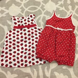 Two Adorable Gymboree 3-6M Girl Outfits